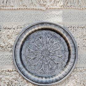 Dekorationsfat Cathedral silver 30 cm