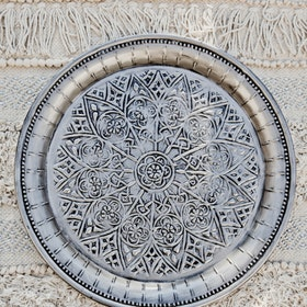 Dekorationsfat Cathedral silver 40 cm