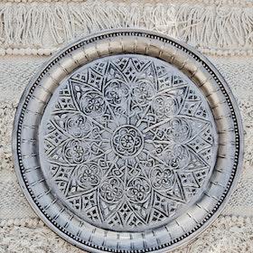 Dekorationsfat Cathedral silver 40 cm