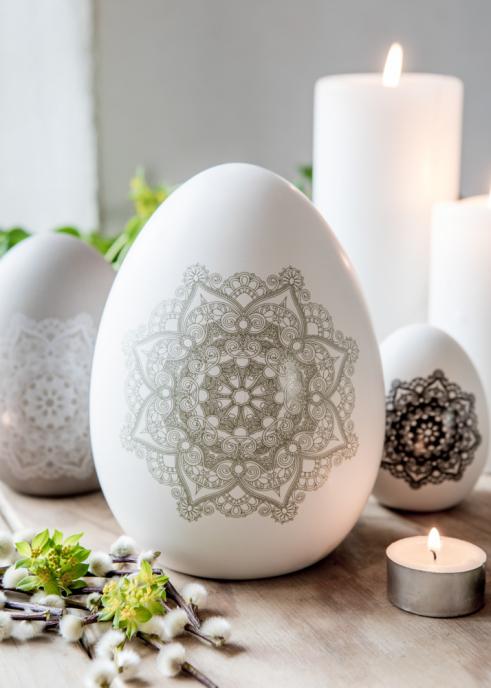 Stående Mandala dekorägg stort