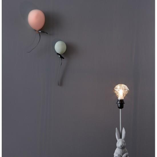 Ballong Väggdekoration rosa Stor