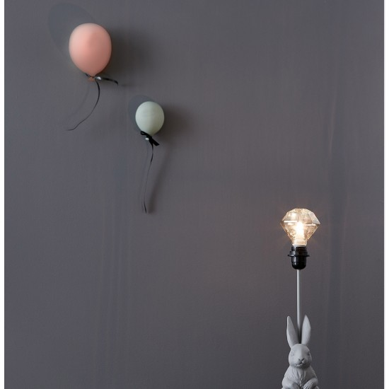 Ballong Väggdekoration rosa Liten