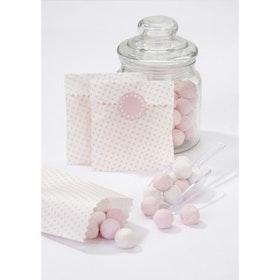 Kalaspåsar mini 10-pack rosa