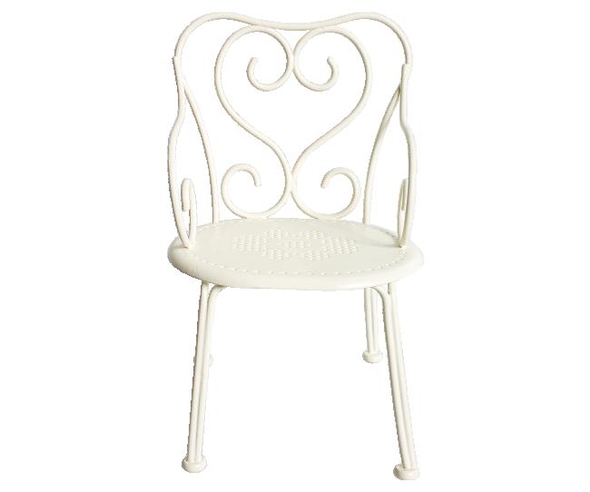 Maileg - Romantisk Stol Mini Vit