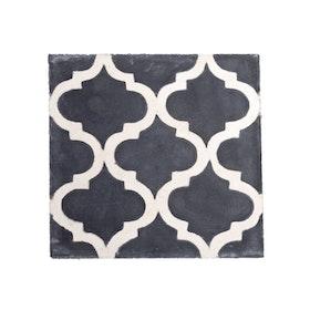 Tine K - Kakelplatta Rococo svart