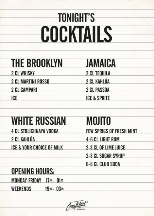 Poster Cocktails 30x40
