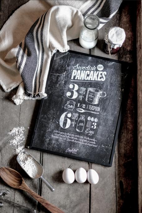 Poster Swedish Pancakes 50x70