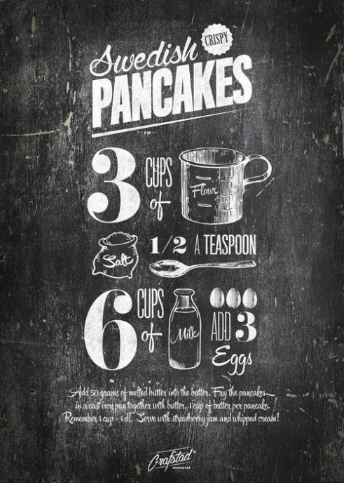 Poster Swedish Pancakes 50x70