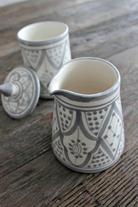 Marockansk Mjölkkanna liten Grå