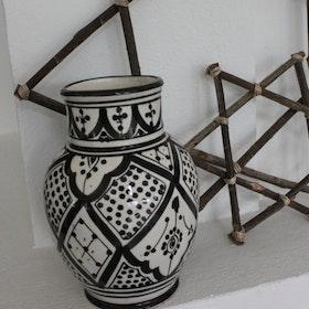 Marockansk Vas Liten Svart