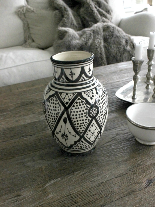 Marockansk Vas Stor Svart