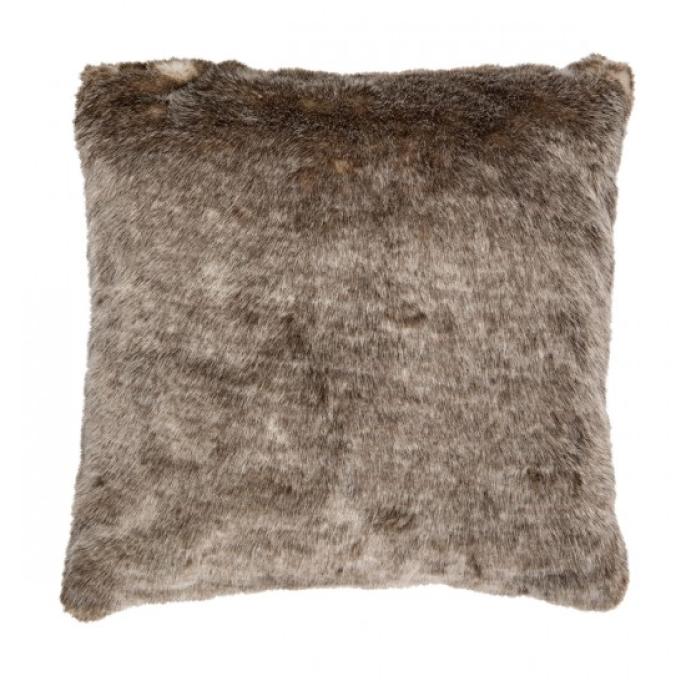 Prydnadskudde Ljusbrun päls