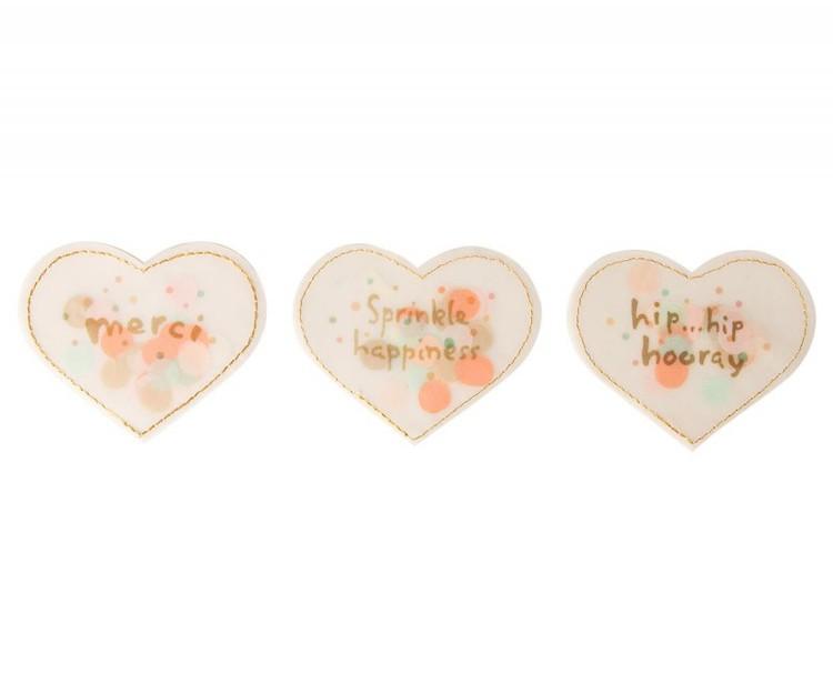 Maileg - Confetti hjärtan 3-pack