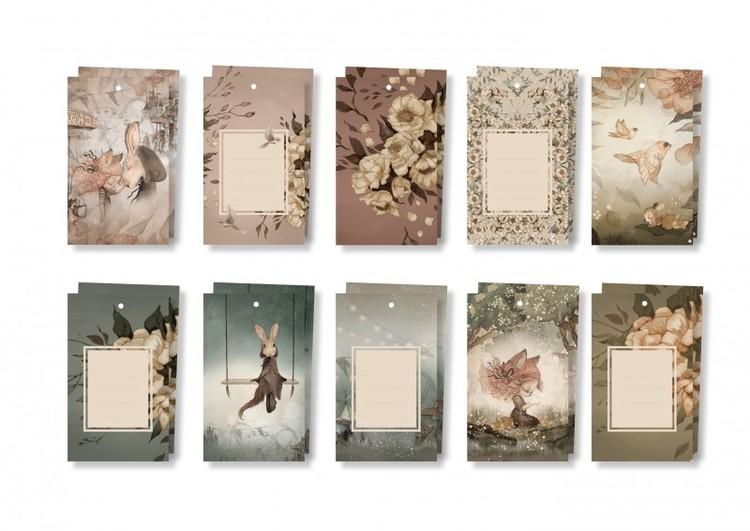 Mrs Mighetto 10-pack Present etiketter Flowers & Tivoli