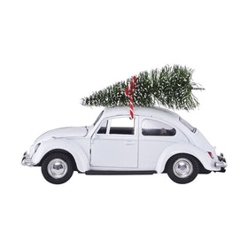 House Doctor Dekoration Xmas car white
