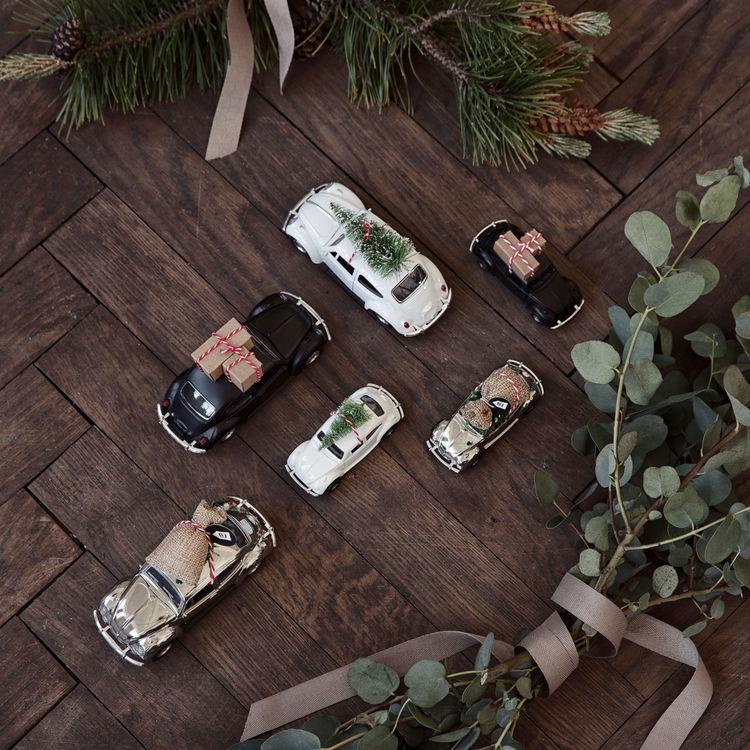 House Doctor Dekoration Xmas car white