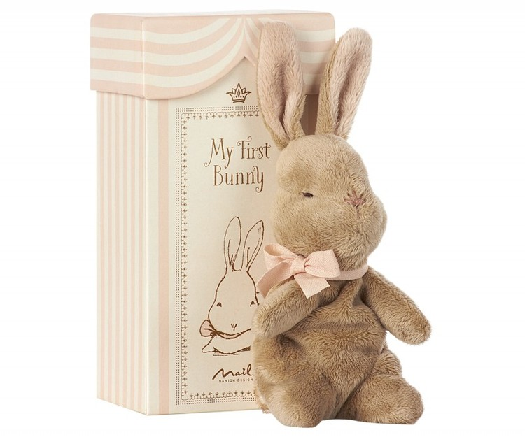 NYHET! Maileg My First Bunny in Box Rose