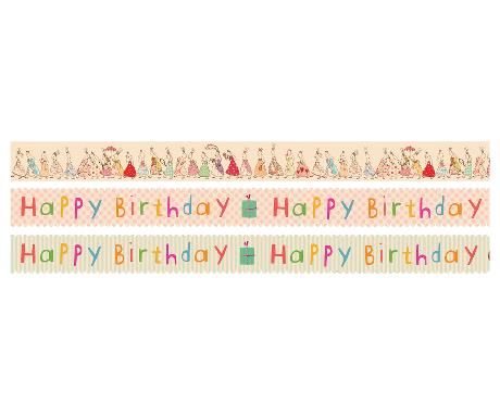 Maileg Tejp 3-pack Happy Birthday