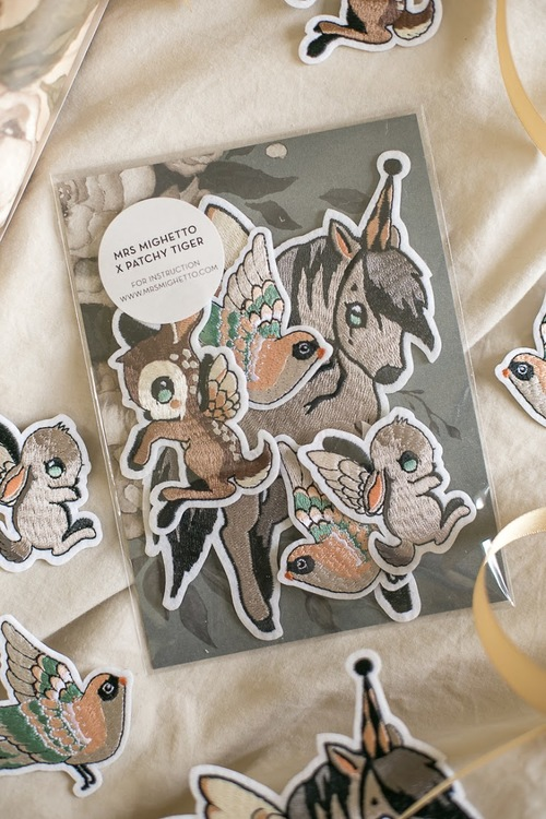 Mrs Mighetto Patches Flying Friends 5-pack