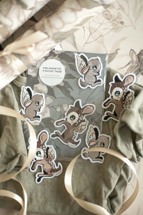 Mrs Mighetto Patches Dear Kid and little friend 2-pack
