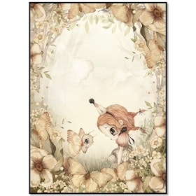 Mrs Mighetto Poster The Rose Forest 50x70
