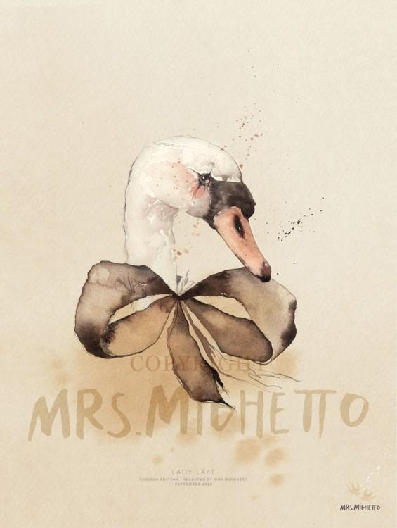 Mrs Mighetto Poster Lady Lake 30x40