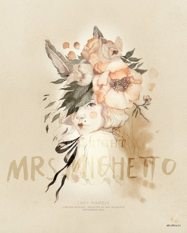 Mrs Mighetto Poster Lady Marble 40x50