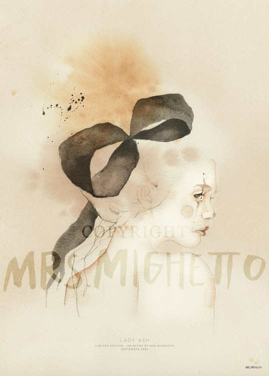 Mrs Mighetto Poster Lady Ash 50x70