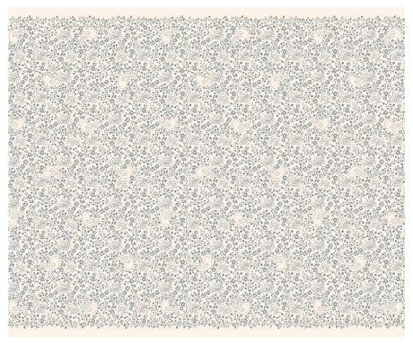 Silkespapper Ark  5-pack Blå blommigt