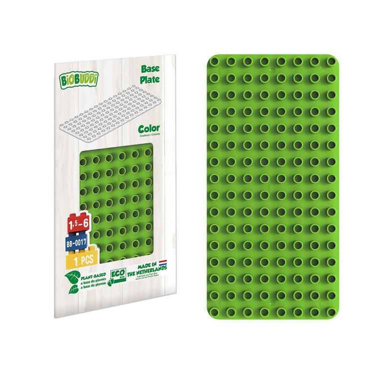 Platta för byggklossar Grön