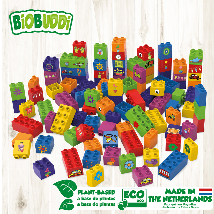 Färgglada Byggklossar 100st BioBuddi
