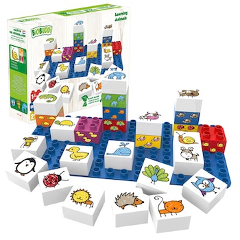 Byggklossar Learning Animals BioBuddi