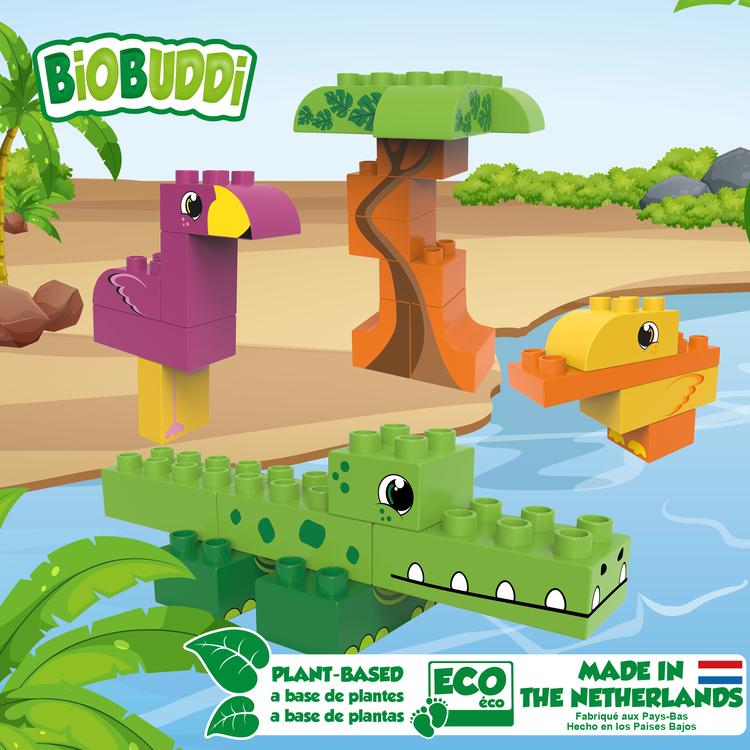 Byggklossar Lagoon BioBuddi - Flamingo Krokodil Anka