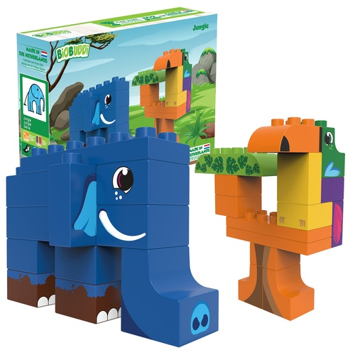 Byggklossar Jungle BioBuddi - Elefant Träd Tukan