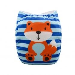 Pocketblöjor- Alva Baby- One Size- Foxy