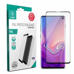 SiGN Heltäckande Skärmskydd i Härdat Glas för Samsung Galaxy S10e