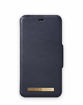 Fashion Wallet För iPhone 11 Pro/Xs/X Saffiano Navy