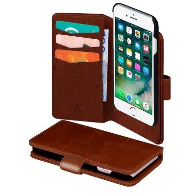 SiGN Plånboksfodral 2-in-1 för iPhone 6/6S/7/8/SE 2 - Brun
