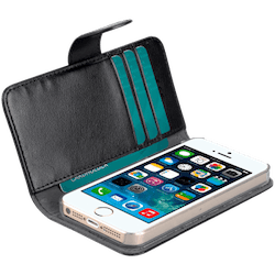 MELKCO WALLETCASE IPHONE SE/5/5S/SE svart