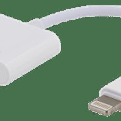 SiGN Adapter Lightning till Dubbla Lightning - Ladda och Lyssna