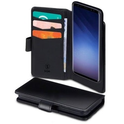 SiGN Plånboksfodral 2-in-1 för Samsung Galaxy S10 Plus - Svart