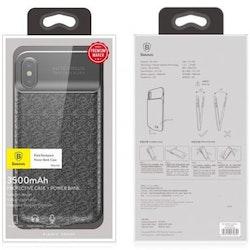 Baseus Backpack Batteriskal 3500mAh för iPhone X/XS - Svart