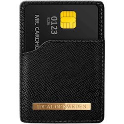 IDEAL MAGNETIC CARD HOLDER SAFFIANO BLACK