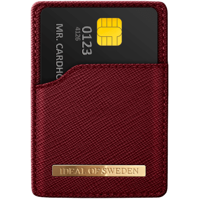 IDEAL MAGNETIC CARD HOLDER SAFFIANO BURGUNDY