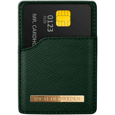 IDEAL MAGNETIC CARD HOLDER SAFFIANO GREEN
