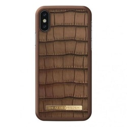 IDeal Capri Case iPhone X/XS - Brown Croco