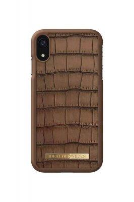 IDeal Capri Case iPhone XR - Brown Croco