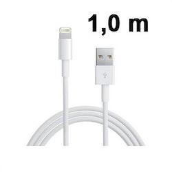 USB kabel med Lightning kontakt, iPhone 6/7/8/X - 1m