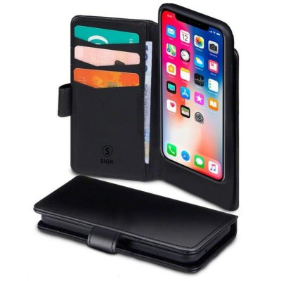 SiGN Plånboksfodral 2-in-1 för iPhone 11 Pro - Svart