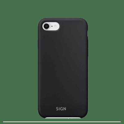 SiGN Liquid Silicone Case för iPhone 6/6s/7/8/SE 2 - Svart